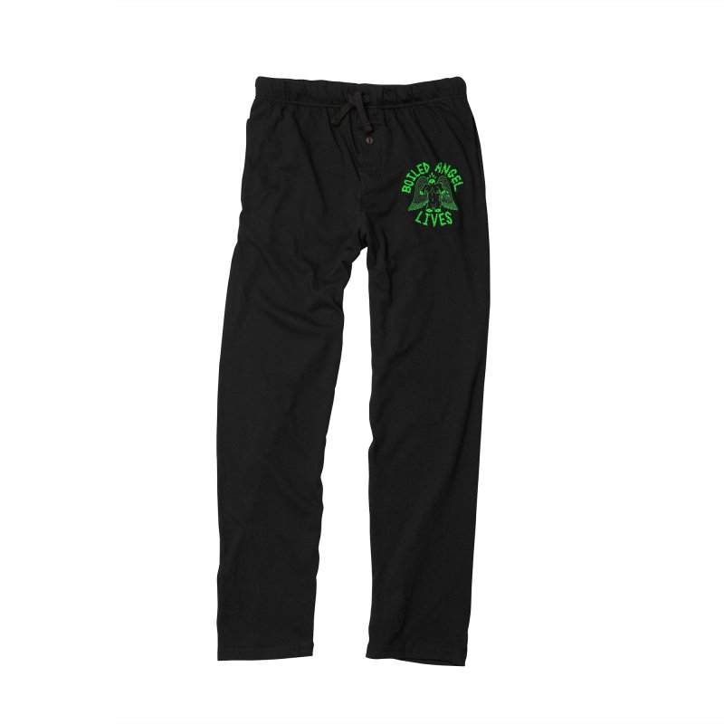 Mike Diana - BOILED ANGEL LIVES - Green Logo Men's Lounge Pants by Mike Diana T-Shirts! Horrible Ugly Heads Limited E