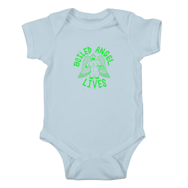 Mike Diana - BOILED ANGEL LIVES - Green Logo Kids Baby Bodysuit by Mike Diana T-Shirts Mugs and More!