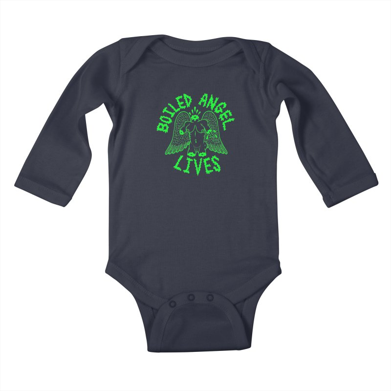 Mike Diana - BOILED ANGEL LIVES - Green Logo Kids Baby Longsleeve Bodysuit by Mike Diana T-Shirts Mugs and More!