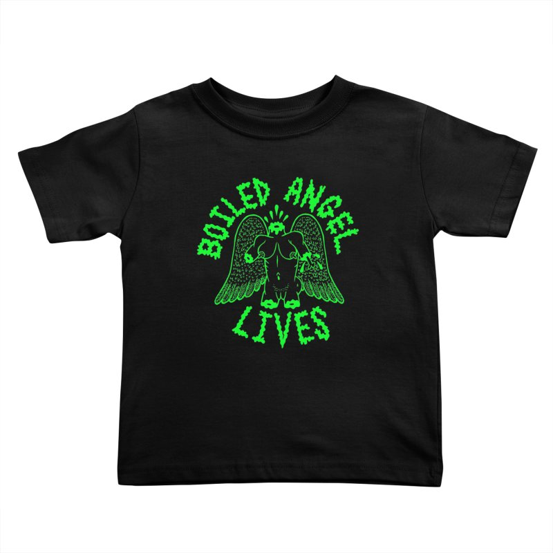 Mike Diana - BOILED ANGEL LIVES - Green Logo Kids Toddler T-Shirt by Mike Diana T-Shirts! Horrible Ugly Heads Limited E