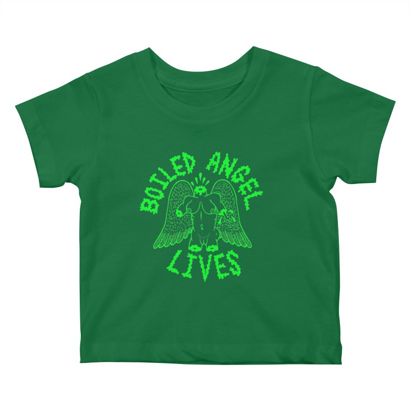 Mike Diana - BOILED ANGEL LIVES - Green Logo Kids Baby T-Shirt by Mike Diana T-Shirts Mugs and More!