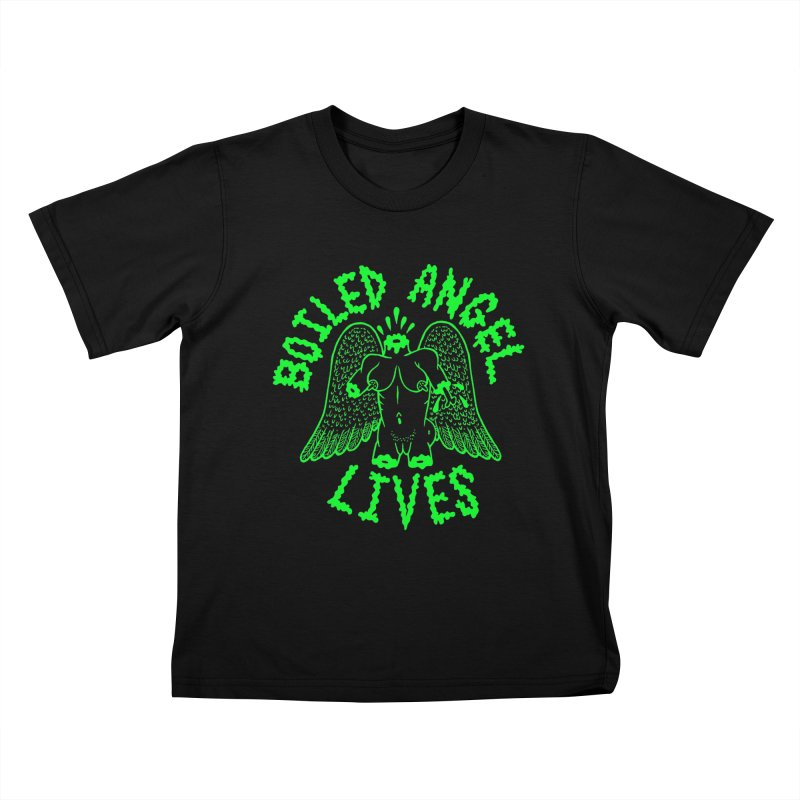 Mike Diana - BOILED ANGEL LIVES - Green Logo Kids T-Shirt by Mike Diana T-Shirts Mugs and More!
