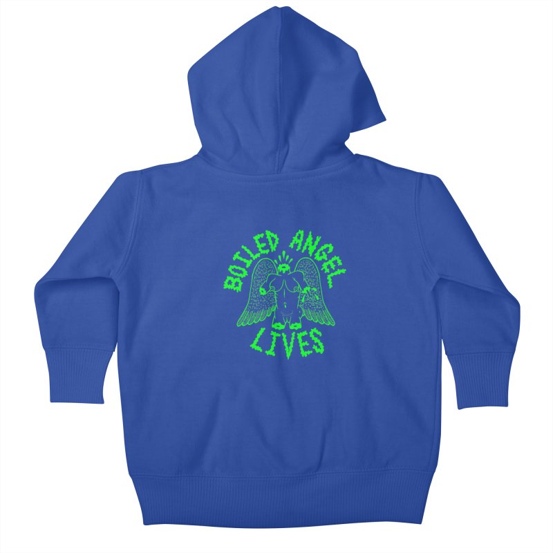 Mike Diana - BOILED ANGEL LIVES - Green Logo Kids Baby Zip-Up Hoody by Mike Diana T-Shirts Mugs and More!