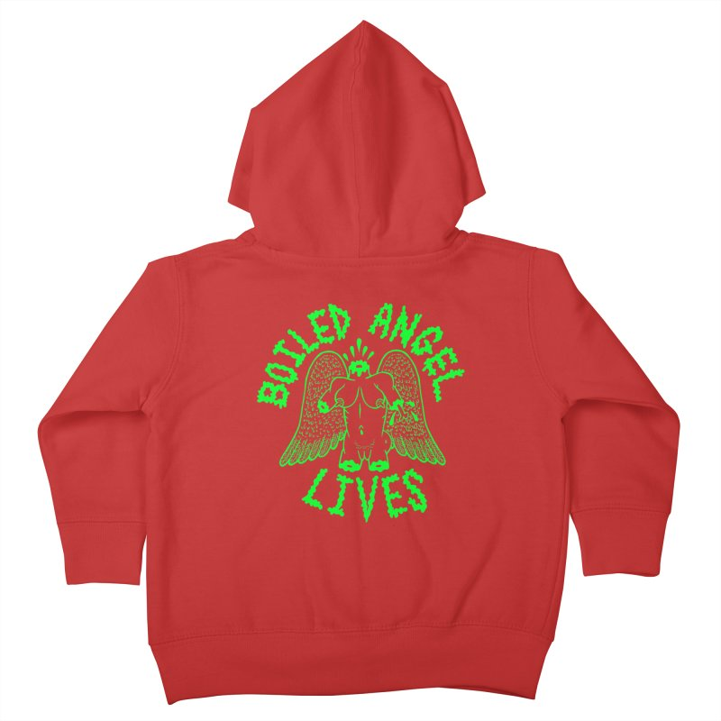 Mike Diana - BOILED ANGEL LIVES - Green Logo Kids Toddler Zip-Up Hoody by Mike Diana T-Shirts! Horrible Ugly Heads Limited E