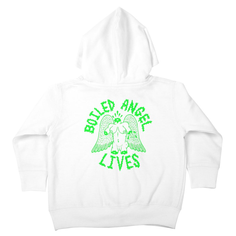 Mike Diana - BOILED ANGEL LIVES - Green Logo Kids Toddler Zip-Up Hoody by Mike Diana T-Shirts Mugs and More!