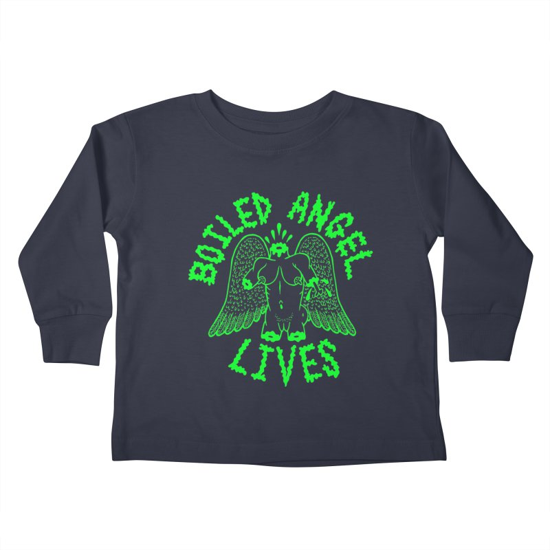 Mike Diana - BOILED ANGEL LIVES - Green Logo Kids Toddler Longsleeve T-Shirt by Mike Diana T-Shirts Mugs and More!