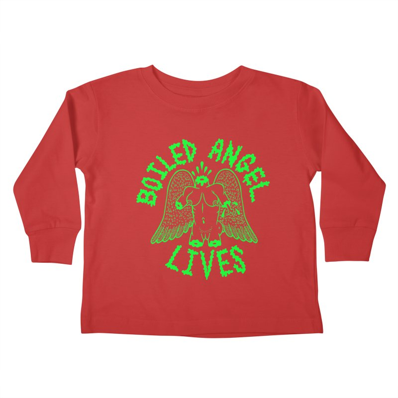Mike Diana - BOILED ANGEL LIVES - Green Logo Kids Toddler Longsleeve T-Shirt by Mike Diana T-Shirts! Horrible Ugly Heads Limited E