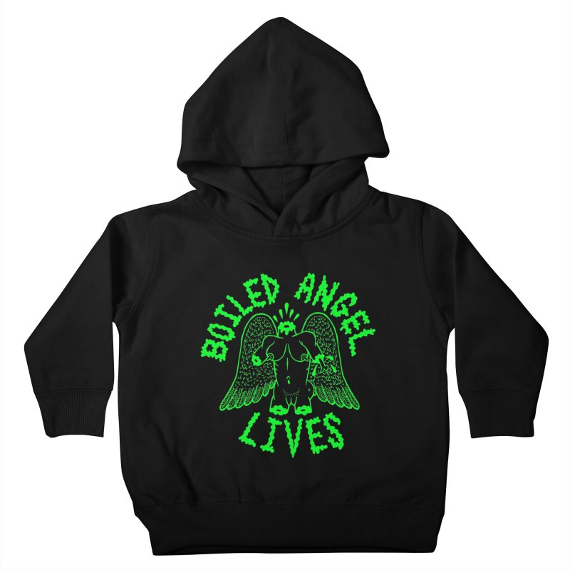 Mike Diana - BOILED ANGEL LIVES - Green Logo Kids Toddler Pullover Hoody by Mike Diana T-Shirts! Horrible Ugly Heads Limited E