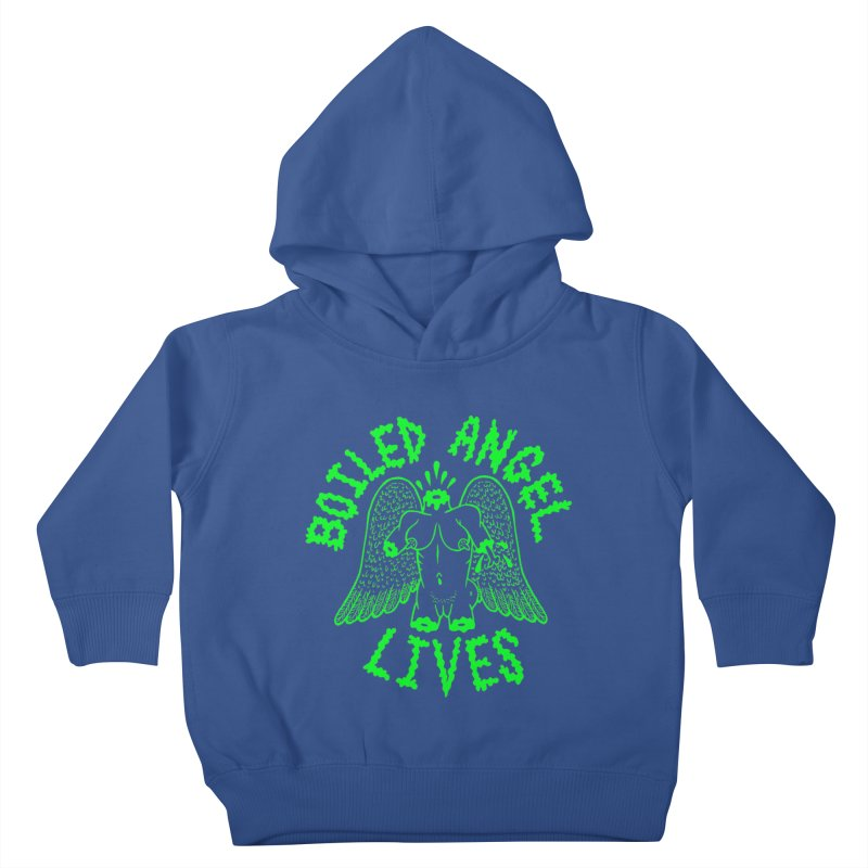 Mike Diana - BOILED ANGEL LIVES - Green Logo Kids Toddler Pullover Hoody by Mike Diana T-Shirts Mugs and More!
