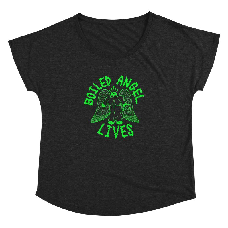 Mike Diana - BOILED ANGEL LIVES - Green Logo Women's Dolman Scoop Neck by Mike Diana T-Shirts Mugs and More!