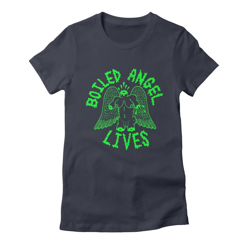 Mike Diana - BOILED ANGEL LIVES - Green Logo Women's Fitted T-Shirt by Mike Diana T-Shirts Mugs and More!