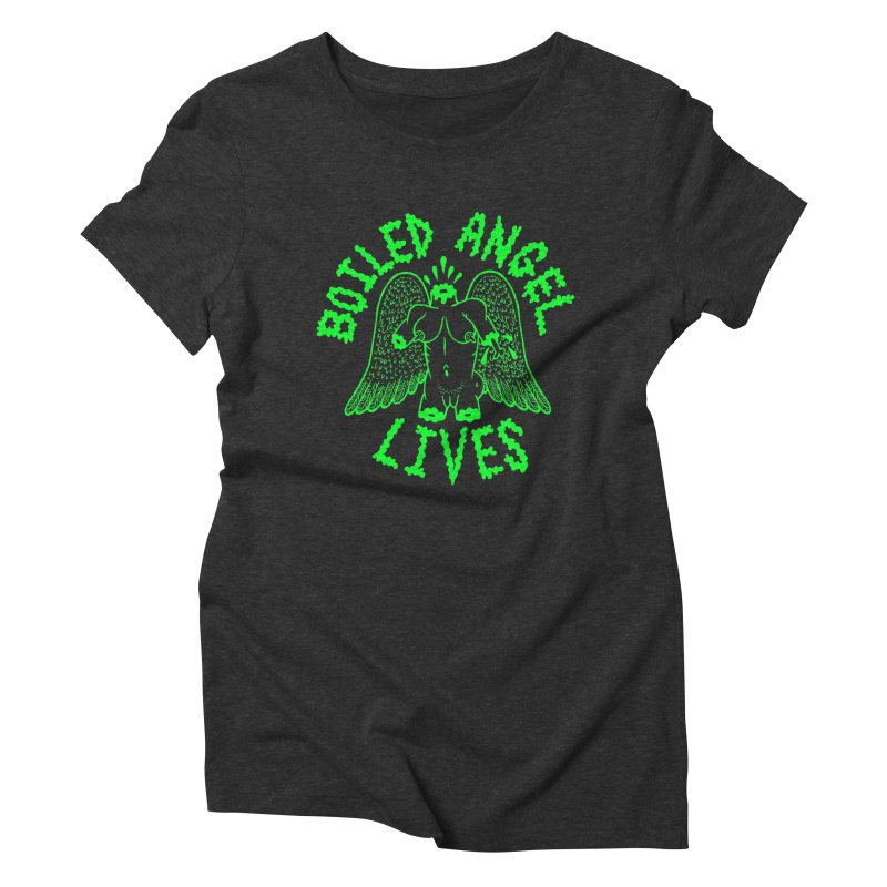 Mike Diana - BOILED ANGEL LIVES - Green Logo Women's Triblend T-Shirt by Mike Diana T-Shirts Mugs and More!