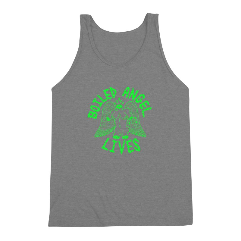 Mike Diana - BOILED ANGEL LIVES - Green Logo Men's Triblend Tank by Mike Diana T-Shirts Mugs and More!
