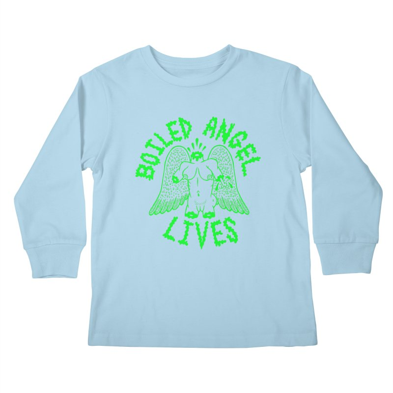 Mike Diana - BOILED ANGEL LIVES - Green Logo Kids Longsleeve T-Shirt by Mike Diana T-Shirts Mugs and More!