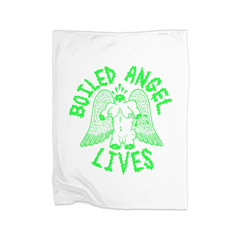 Mike Diana - BOILED ANGEL LIVES - Green Logo Home Blanket by Mike Diana T-Shirts Mugs and More!