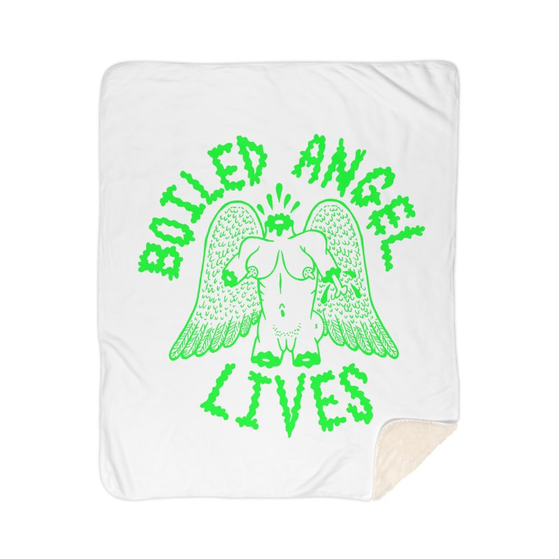 Mike Diana - BOILED ANGEL LIVES - Green Logo Home Sherpa Blanket Blanket by Mike Diana T-Shirts Mugs and More!