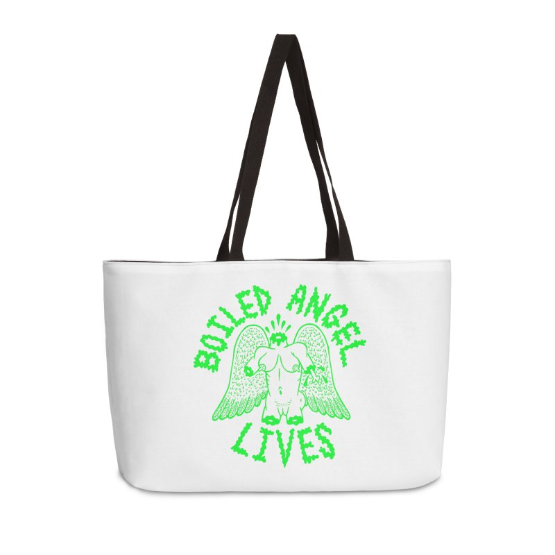 Mike Diana - BOILED ANGEL LIVES - Green Logo Accessories Weekender Bag Bag by Mike Diana T-Shirts Mugs and More!