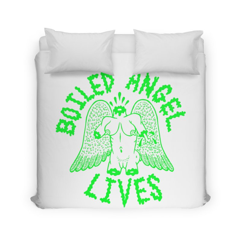 Mike Diana - BOILED ANGEL LIVES - Green Logo Home Duvet by Mike Diana T-Shirts! Horrible Ugly Heads Limited E