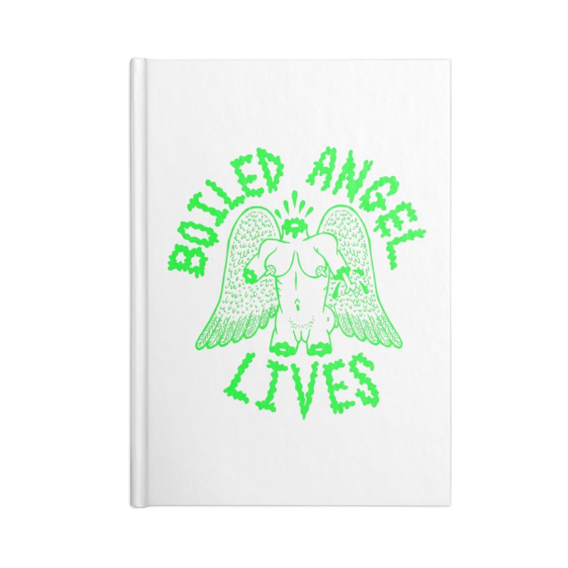 Mike Diana - BOILED ANGEL LIVES - Green Logo Accessories Lined Journal Notebook by Mike Diana T-Shirts Mugs and More!