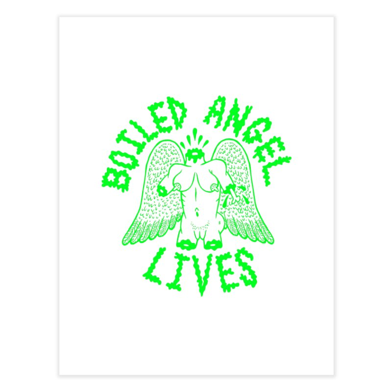 Mike Diana - BOILED ANGEL LIVES - Green Logo Home Fine Art Print by Mike Diana T-Shirts Mugs and More!