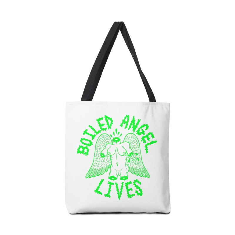 Mike Diana - BOILED ANGEL LIVES - Green Logo Accessories Tote Bag Bag by Mike Diana T-Shirts Mugs and More!