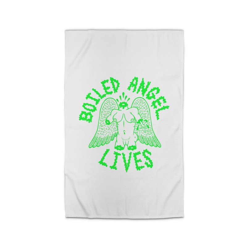 Mike Diana - BOILED ANGEL LIVES - Green Logo Home Rug by Mike Diana T-Shirts Mugs and More!