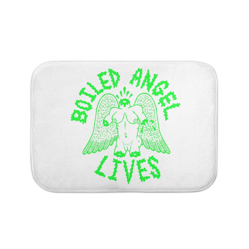 Mike Diana - BOILED ANGEL LIVES - Green Logo Home Bath Mat by Mike Diana T-Shirts Mugs and More!