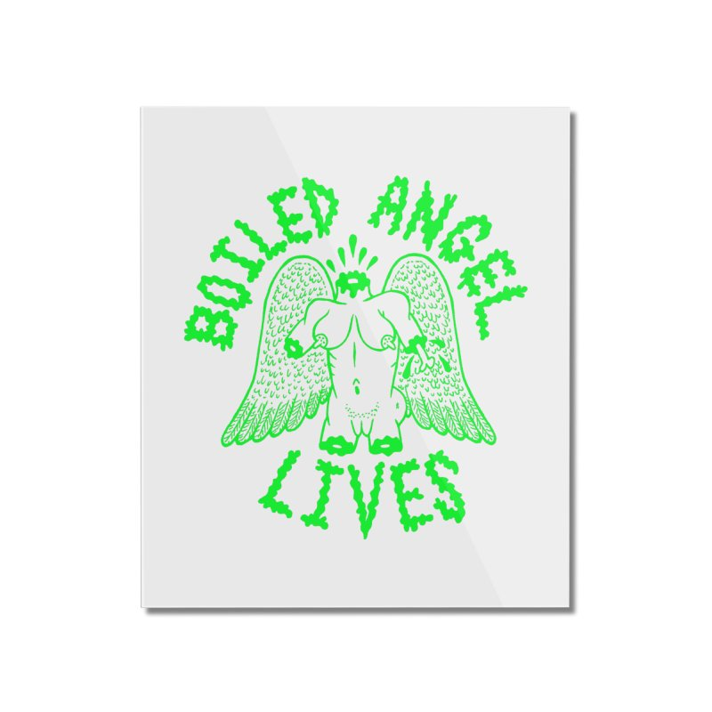 Mike Diana - BOILED ANGEL LIVES - Green Logo Home Mounted Acrylic Print by Mike Diana T-Shirts Mugs and More!