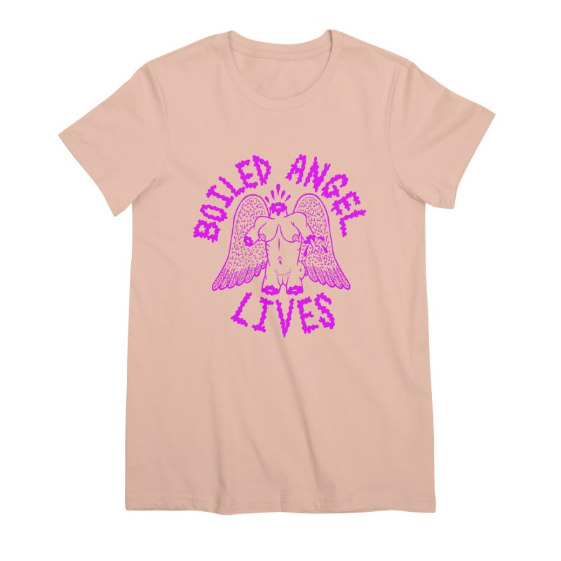 Mike Diana BOILED ANGEL LIVES - Purple Women's Premium T-Shirt by Mike Diana T-Shirts Mugs and More!