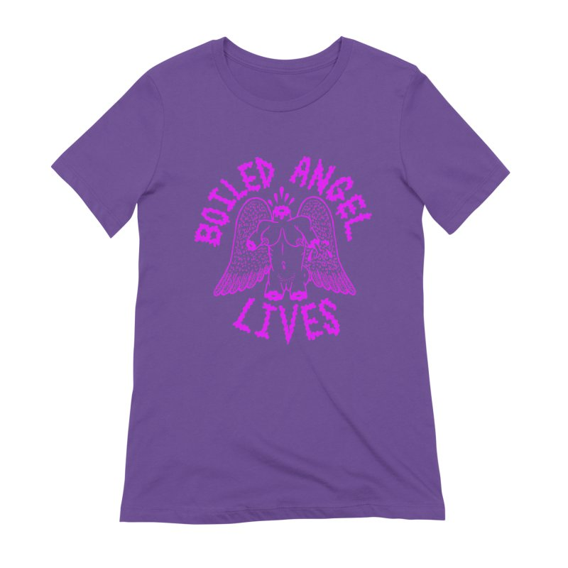 Mike Diana BOILED ANGEL LIVES - Purple Women's Extra Soft T-Shirt by Mike Diana T-Shirts Mugs and More!