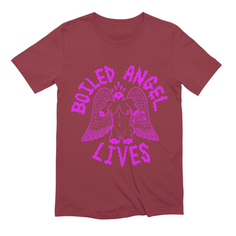 Mike Diana BOILED ANGEL LIVES - Purple Men's Extra Soft T-Shirt by Mike Diana T-Shirts! Horrible Ugly Heads Limited E