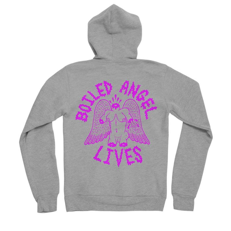 Mike Diana BOILED ANGEL LIVES - Purple Men's Sponge Fleece Zip-Up Hoody by Mike Diana T-Shirts Mugs and More!