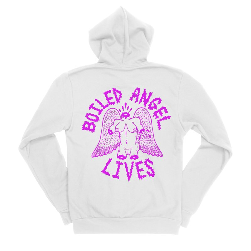 Mike Diana BOILED ANGEL LIVES - Purple Women's Sponge Fleece Zip-Up Hoody by Mike Diana T-Shirts Mugs and More!