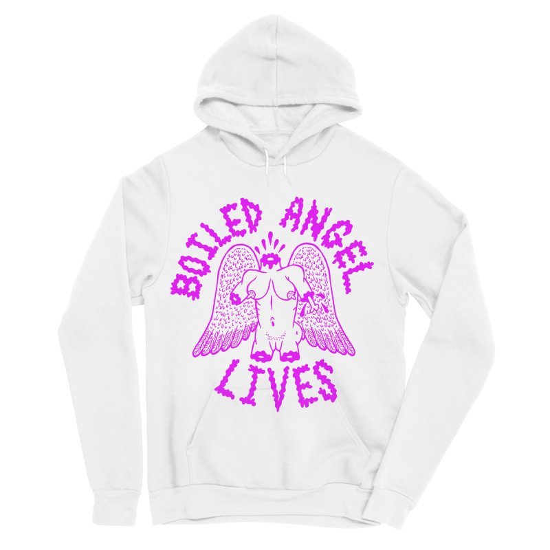 Mike Diana BOILED ANGEL LIVES - Purple Women's Sponge Fleece Pullover Hoody by Mike Diana T-Shirts Mugs and More!