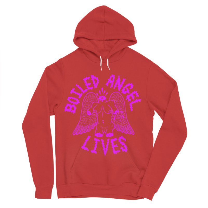 Mike Diana BOILED ANGEL LIVES - Purple Women's Sponge Fleece Pullover Hoody by Mike Diana T-Shirts! Horrible Ugly Heads Limited E