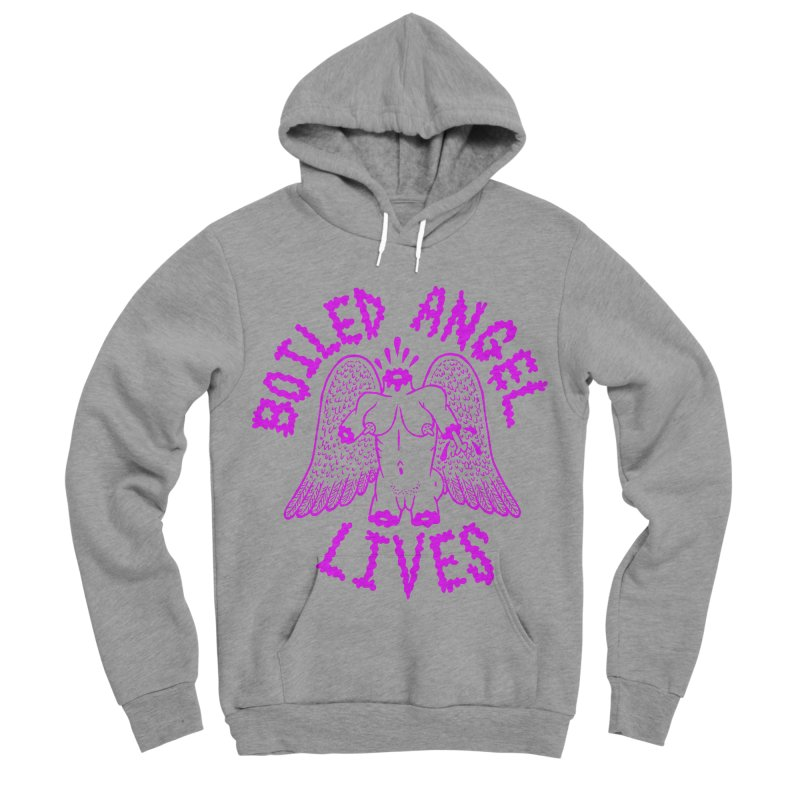 Mike Diana BOILED ANGEL LIVES - Purple Men's Sponge Fleece Pullover Hoody by Mike Diana T-Shirts Mugs and More!