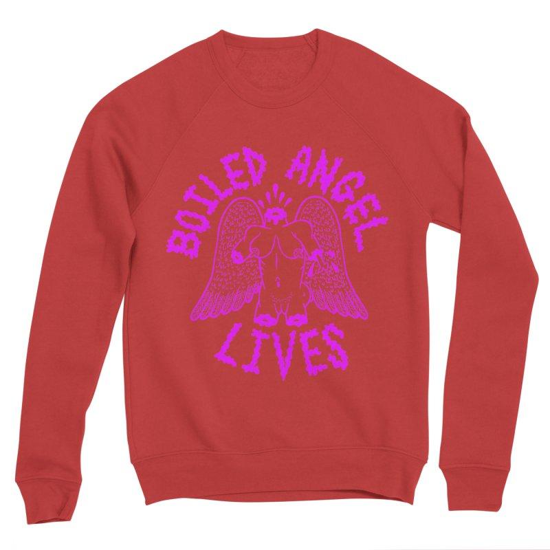 Mike Diana BOILED ANGEL LIVES - Purple Men's Sponge Fleece Sweatshirt by Mike Diana T-Shirts! Horrible Ugly Heads Limited E
