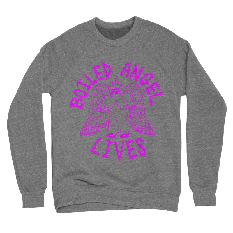 Mike Diana BOILED ANGEL LIVES - Purple Men's Sponge Fleece Sweatshirt by Mike Diana T-Shirts Mugs and More!