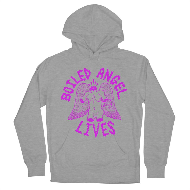 Mike Diana BOILED ANGEL LIVES - Purple Men's French Terry Pullover Hoody by Mike Diana T-Shirts Mugs and More!