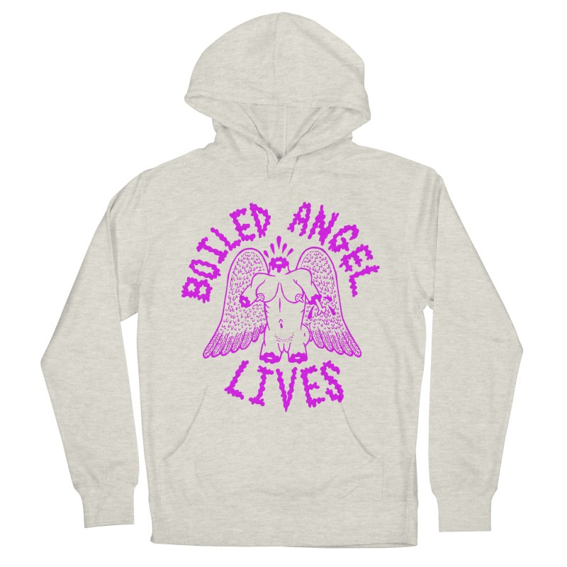 Mike Diana BOILED ANGEL LIVES - Purple Men's French Terry Pullover Hoody by Mike Diana T-Shirts! Horrible Ugly Heads Limited E