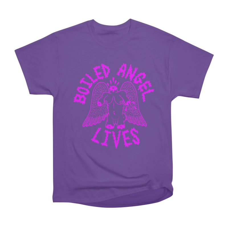 Mike Diana BOILED ANGEL LIVES - Purple Women's Heavyweight Unisex T-Shirt by Mike Diana T-Shirts Mugs and More!