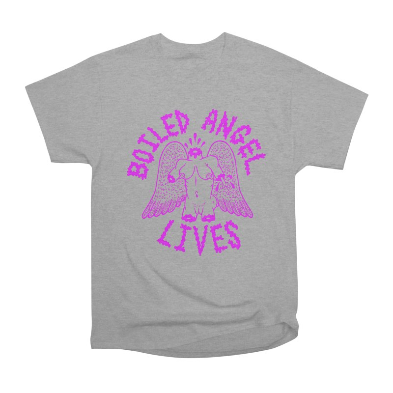 Mike Diana BOILED ANGEL LIVES - Purple Women's Heavyweight Unisex T-Shirt by Mike Diana T-Shirts! Horrible Ugly Heads Limited E