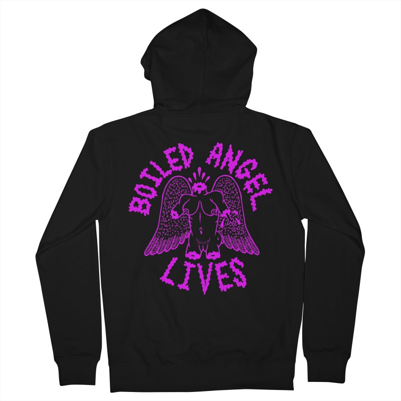 Mike Diana BOILED ANGEL LIVES - Purple Women's French Terry Zip-Up Hoody by Mike Diana T-Shirts Mugs and More!