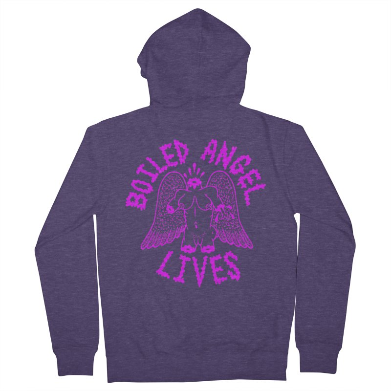 Mike Diana BOILED ANGEL LIVES - Purple Men's French Terry Zip-Up Hoody by Mike Diana T-Shirts Mugs and More!