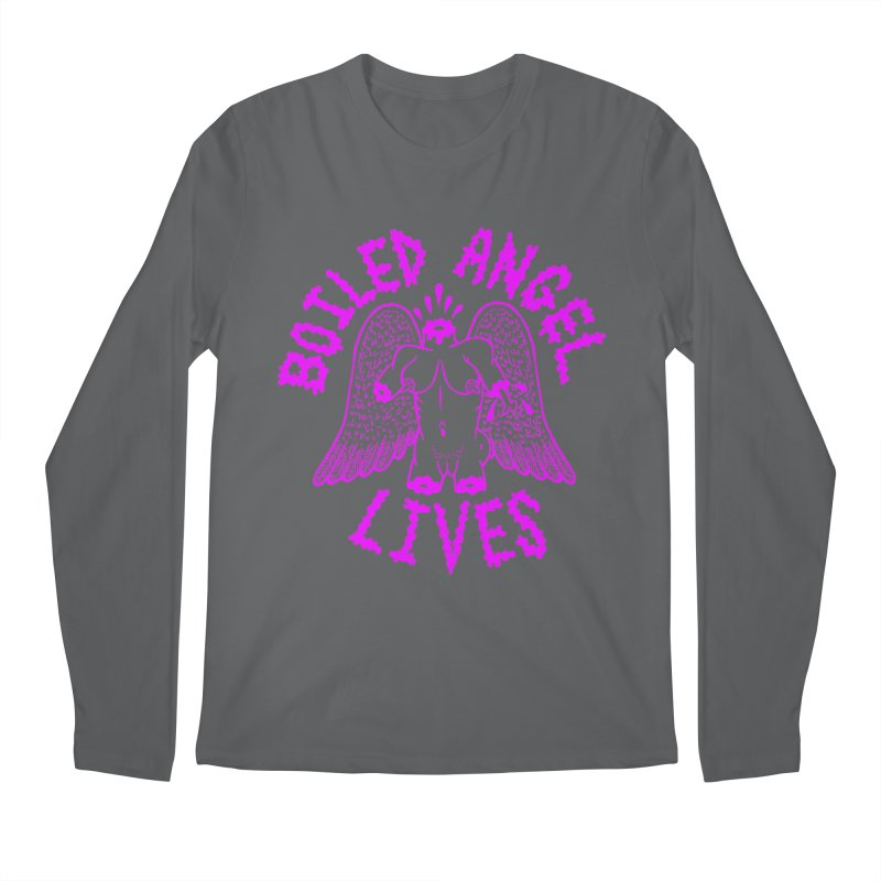 Mike Diana BOILED ANGEL LIVES - Purple Men's Regular Longsleeve T-Shirt by Mike Diana T-Shirts! Horrible Ugly Heads Limited E