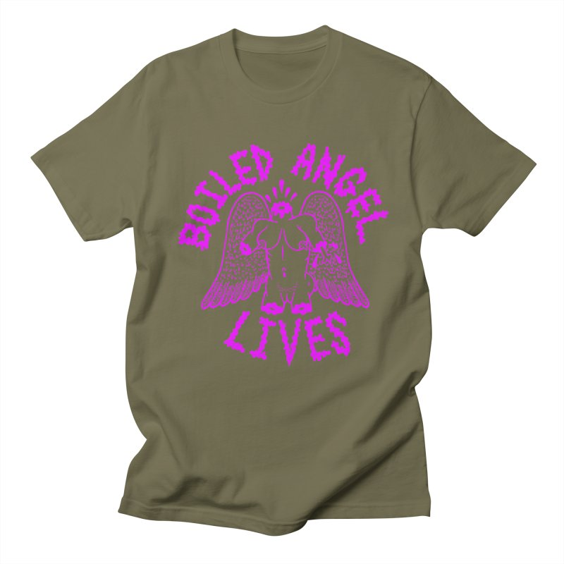 Mike Diana BOILED ANGEL LIVES - Purple Men's Regular T-Shirt by Mike Diana T-Shirts Mugs and More!