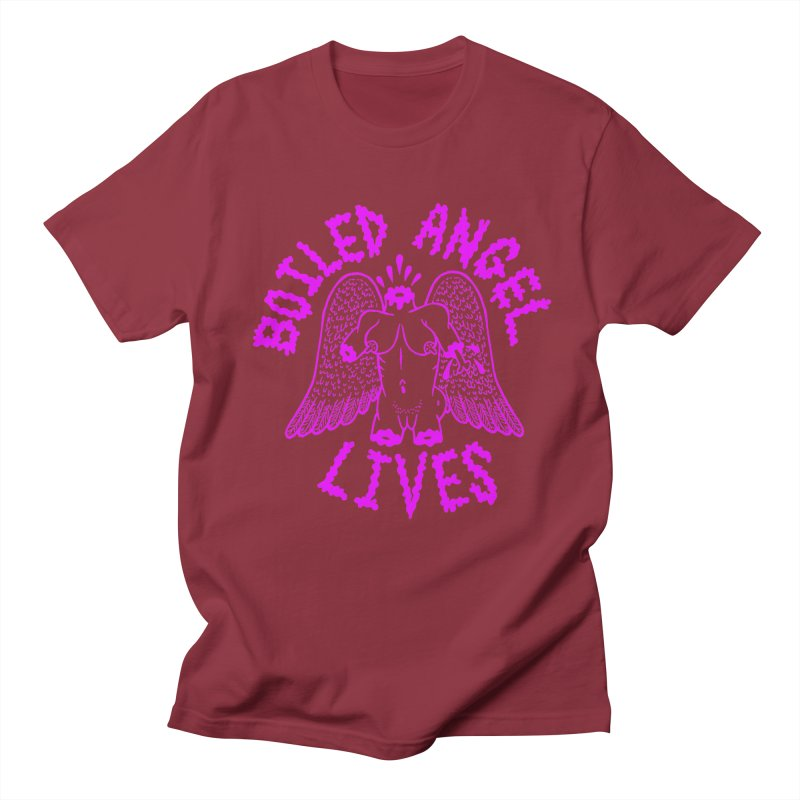 Mike Diana BOILED ANGEL LIVES - Purple Women's Regular Unisex T-Shirt by Mike Diana T-Shirts Mugs and More!