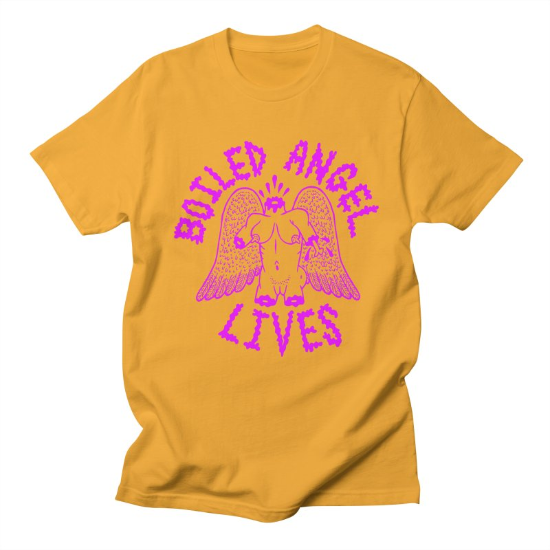 Mike Diana BOILED ANGEL LIVES - Purple Men's Regular T-Shirt by Mike Diana T-Shirts! Horrible Ugly Heads Limited E