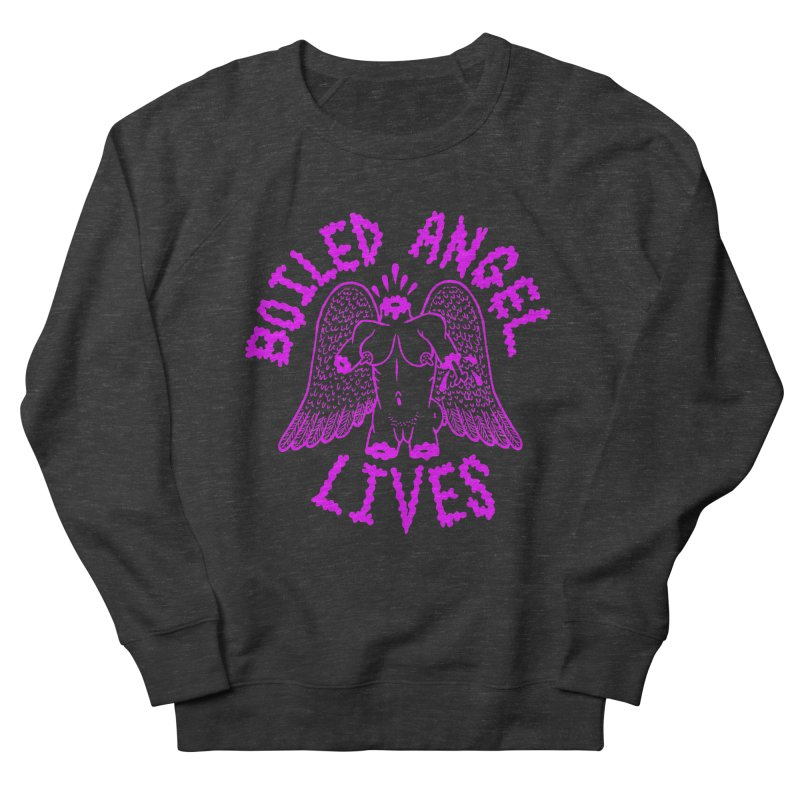 Mike Diana BOILED ANGEL LIVES - Purple Women's French Terry Sweatshirt by Mike Diana T-Shirts Mugs and More!