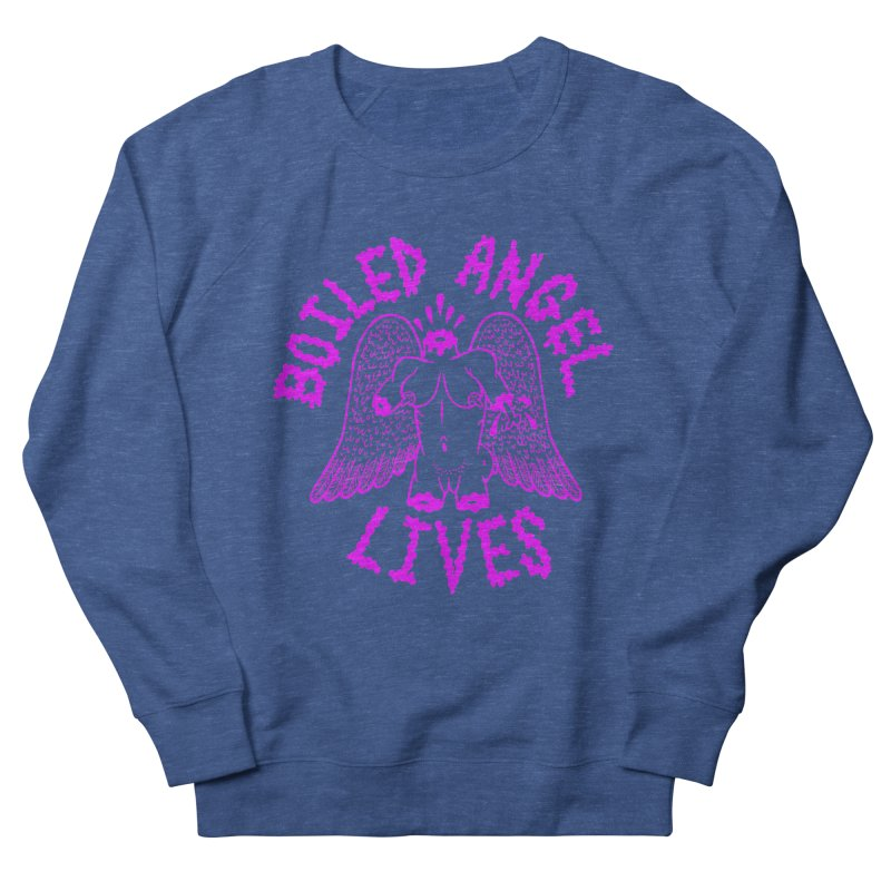 Mike Diana BOILED ANGEL LIVES - Purple Women's French Terry Sweatshirt by Mike Diana T-Shirts! Horrible Ugly Heads Limited E
